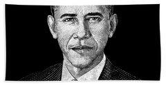 President Barack Obama Graphic Beach Towel