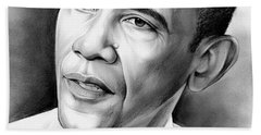President Barack Obama Beach Towel by Greg Joens