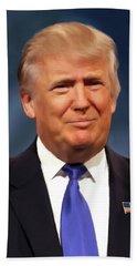President Donald John Trump Portrait Beach Towel
