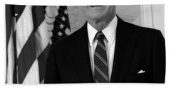 President George Bush Sr Beach Towel by War Is Hell Store