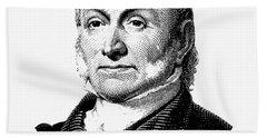 President John Quincy Adams Graphic  Beach Towel