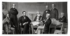 President Lincoln And His Cabinet Beach Towel