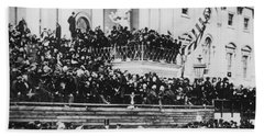 President Lincoln Gives His Second Inaugural Address - March 4 1865 Beach Towel