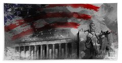 Beach Towel featuring the painting President Lincoln  by Gull G