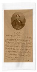 President Lincoln's Letter To Mrs. Bixby Beach Towel