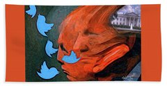 President Of Twitter Beach Towel