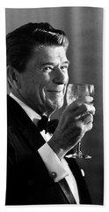President Reagan Making A Toast Beach Sheet