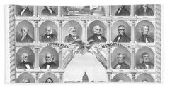 Presidents Of The United States 1776-1876 Beach Towel