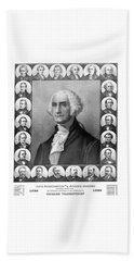 Presidents Of The United States 1789-1889 Beach Sheet by War Is Hell Store