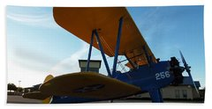 Beach Towel featuring the photograph Preston's Boeing Stearman 000 by Chris Mercer
