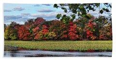 Pretty Autumn Scene Beach Sheet by Mikki Cucuzzo