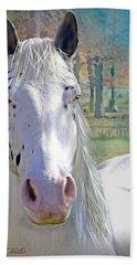 Pretty Eyes Beach Sheet by Bonnie Willis