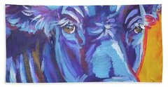 Pretty Face Cow Beach Towel by Jenn Cunningham