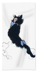 Beach Towel featuring the digital art Pretty Kitty by ReInVintaged
