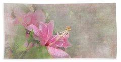 Pretty Pink Hibiscus Beach Towel