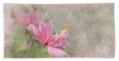 Pretty Pink Hibiscus Beach Towel