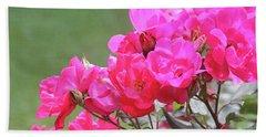 Pretty Pink Roses Beach Sheet