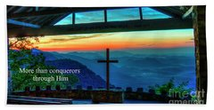 Pretty Place Chapel Through Him Art Beach Towel