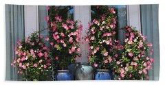 Pretty Pots In Pink Beach Towel