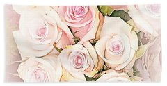Pretty Roses Beach Towel