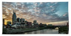 Pretty Sky And Nashville Skyline Beach Towel
