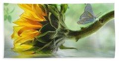 Pretty Sunflower Beach Towel by Nina Bradica
