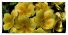 Pretty Yellow Primrose Beach Towel