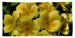 Pretty Yellow Primrose Beach Towel