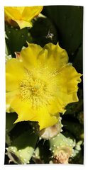 Prickly Pear And The Bee Beach Towel
