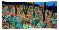 Prickly Pear Cactus Tucson Beach Towel