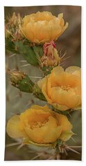Prickly Pear Blossom Trio Beach Towel