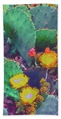 Prickly Pear Cactus 2 Beach Towel