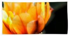 Prickly Pear Flower Beach Towel