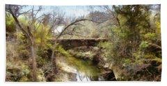 Bridge At The Zoo Beach Sheet by Ricky Dean
