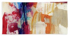 Primary 2- Abstract Art By Linda Woods Beach Towel