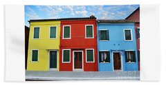 Primary Colors Too Burano Italy Beach Towel