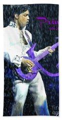 Prince 1958 - 2016 Beach Sheet by Vannetta Ferguson