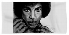 Prince Art - Pencil Drawing From Photography - Ai P. Nilson Beach Towel