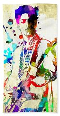 Prince In Concert Beach Towel by Daniel Janda