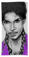 Prince In Purple Beach Towel