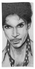 Beach Towel featuring the drawing Prince by Patrice Torrillo