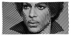 Prince - Tribute In Black And White Sketch Beach Towel