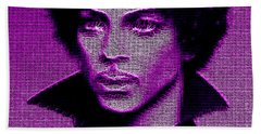 Prince - Tribute In Purple Beach Towel