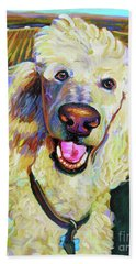 Princely Poodle Beach Towel
