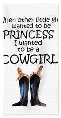 Princess Cowgirl Beach Towel