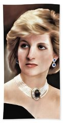 Beach Towel featuring the digital art Princess Diana by Pennie  McCracken
