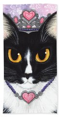 Princess Fiona -tuxedo Cat Beach Towel