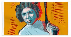 Beach Sheet featuring the digital art Princess Leia by Antonio Romero