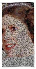 Princess Leia Quotes Mosaic Beach Sheet