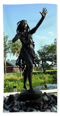 Princess Ulele Statue Beach Sheet